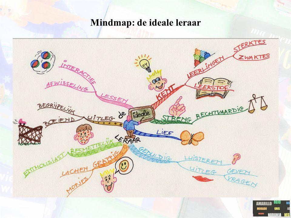 Mindmap: de ideale leraar Zelf voorbeelden toevoegen per vakdidactiek