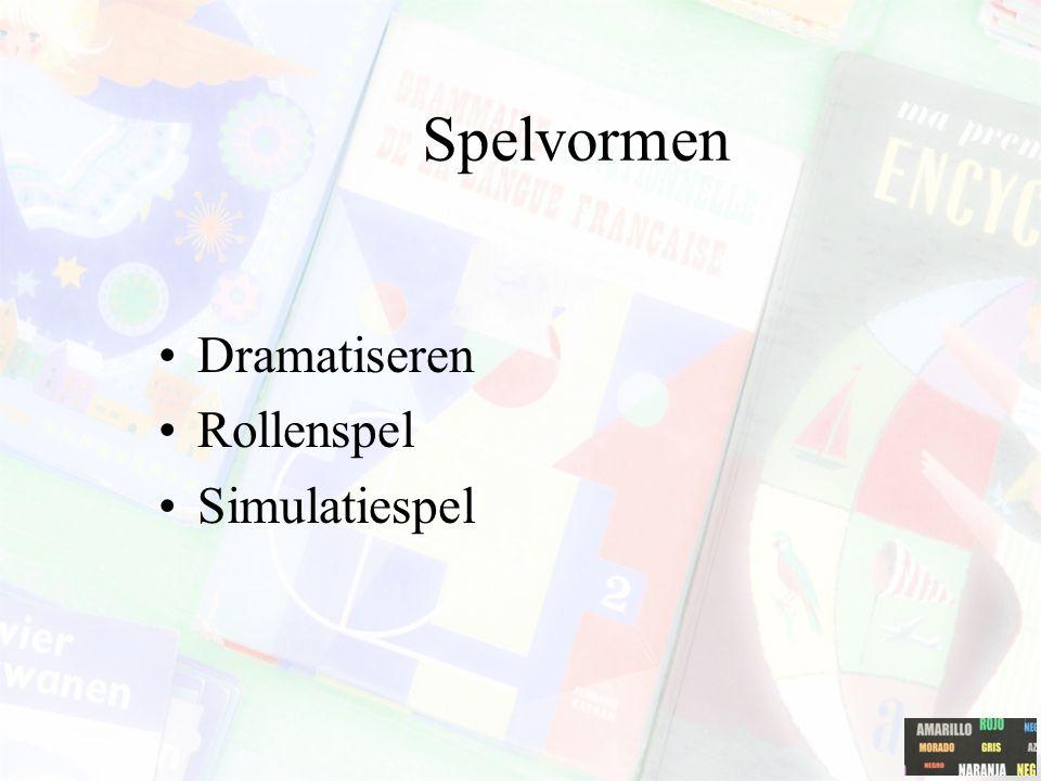 Spelvormen Dramatiseren Rollenspel Simulatiespel
