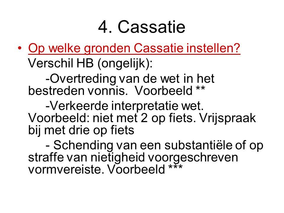 4.Cassatie Op welke gronden Cassatie instellen.