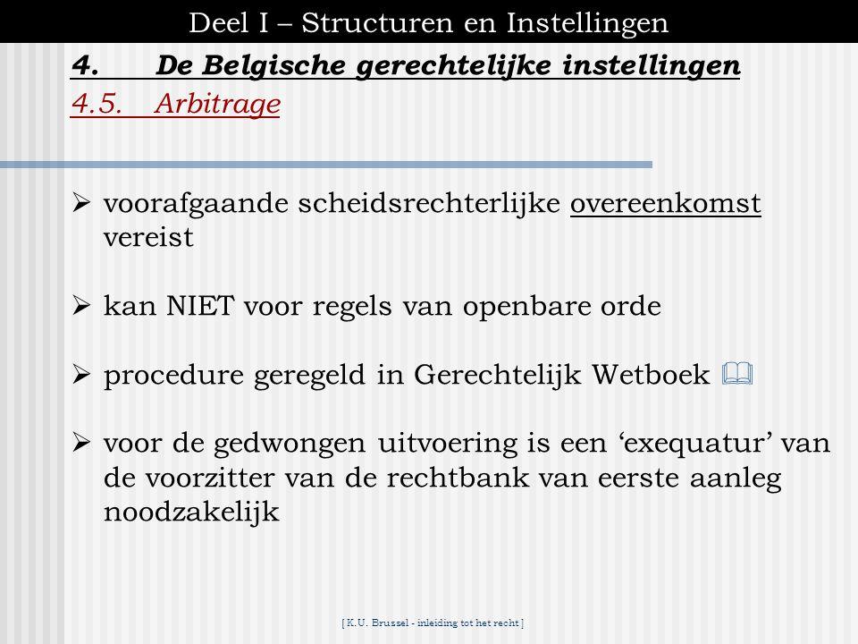 [ K.U. Brussel - inleiding tot het recht ] 4.De Belgische gerechtelijke instellingen Deel I – Structuren en Instellingen 4.4.Administratieve en tuchtr