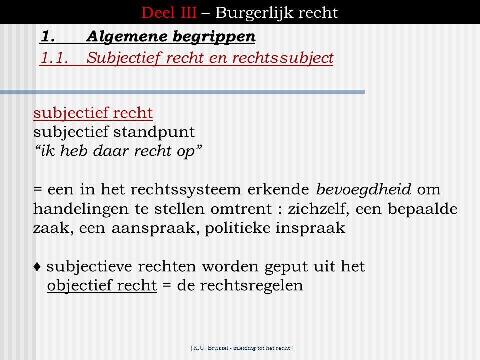 [ K.U. Brussel - inleiding tot het recht ] ► algemene inleiding ► deel I :structuren en instellingen ► deel II:privaatrechtelijk procesrecht ► deel II