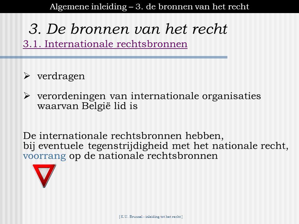 [ K.U. Brussel - inleiding tot het recht ] Algemene inleiding – 2. de indelingen van het recht 2.2.Grensoverschrijdend recht 2.2.2. Volkenrecht (Inter