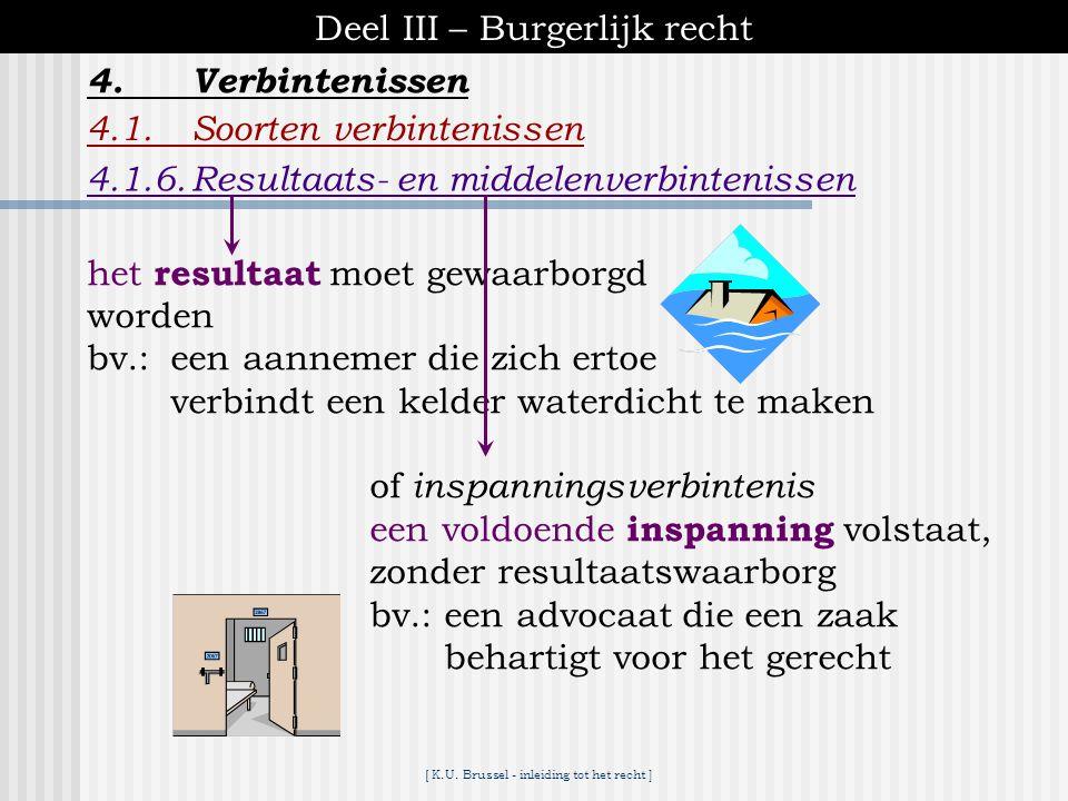 [ K.U. Brussel - inleiding tot het recht ] Deel III – Burgerlijk recht 4.Verbintenissen 4.1.Soorten verbintenissen 4.1.5. Hoofdelijke verbintenissen 