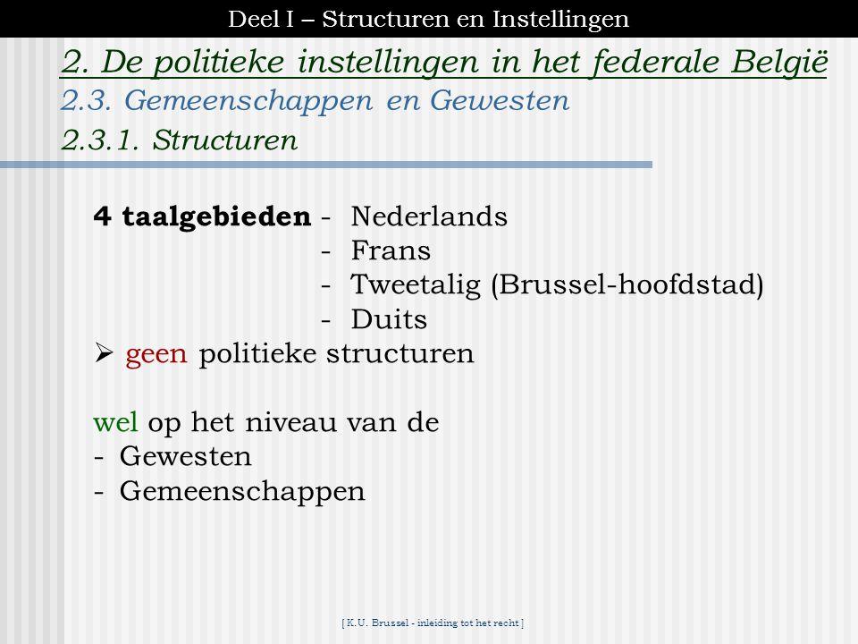 [ K.U. Brussel - inleiding tot het recht ] 2. De politieke instellingen in het federale België 2.2.2.C. Bevoegdheden verordenende bevoegdheid beheer o