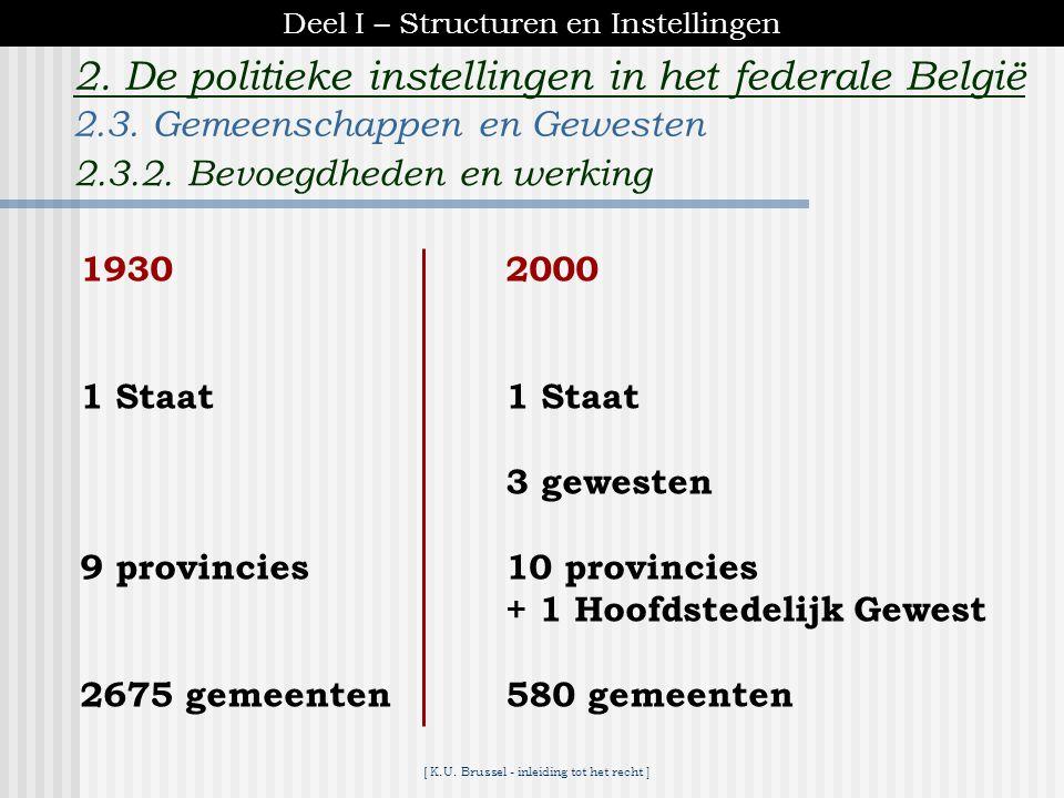 [ K.U. Brussel - inleiding tot het recht ] 2. De politieke instellingen in het federale België Brusselse Hoofdstedelijke Raad *75 leden *verkiezing om