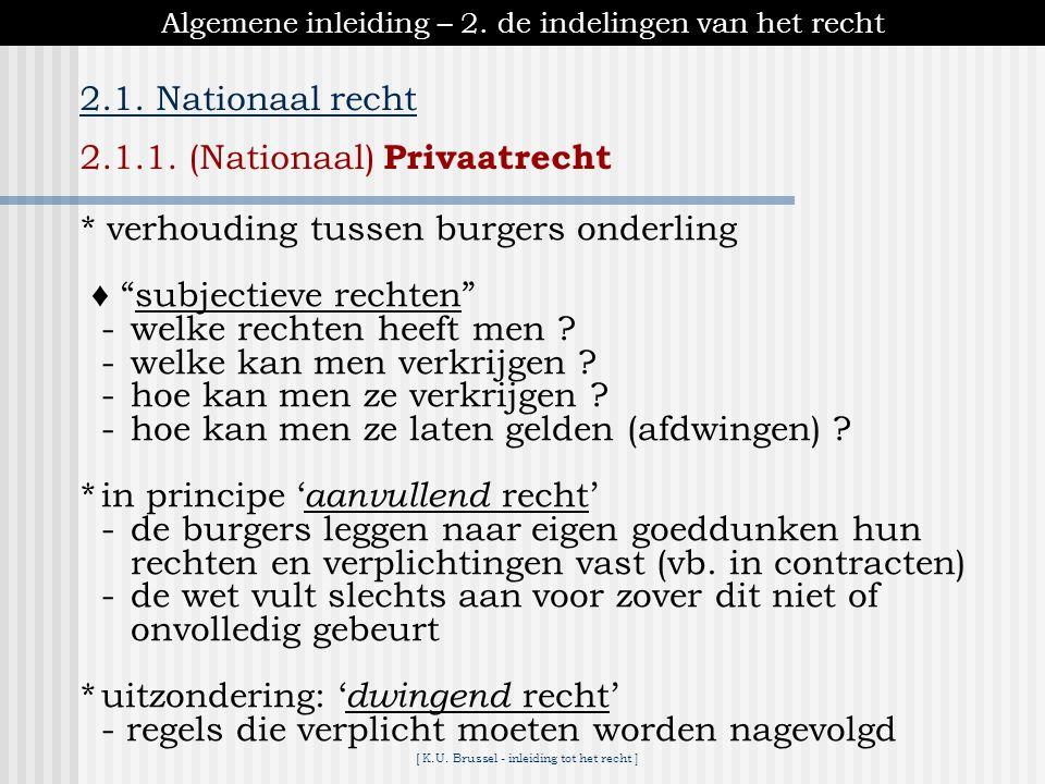 [ K.U.Brussel - inleiding tot het recht ] Deel III – Burgerlijk recht 4.Verbintenissen 4.1.1.