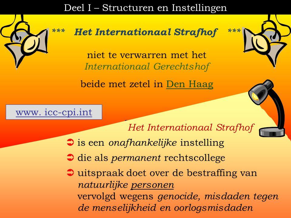 [ K.U. Brussel - inleiding tot het recht ] 3.De supranationale instellingen Deel I – Structuren en Instellingen 3.1.De Verenigde Naties (UNO) (politie