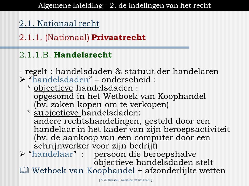 [ K.U.Brussel - inleiding tot het recht ] 2. De politieke instellingen in het federale België.