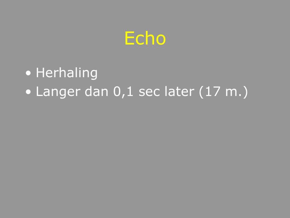 Reflectie Echo Reverberatie reflectie van golven