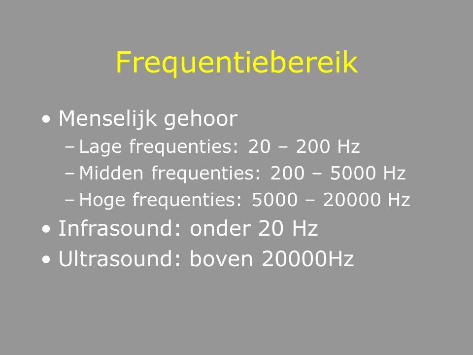 Relatie frequentie - toonhoogte Frequentie = technische term Toonhoogte = muzikale term Relatie = niet lineair (MEL schaal)