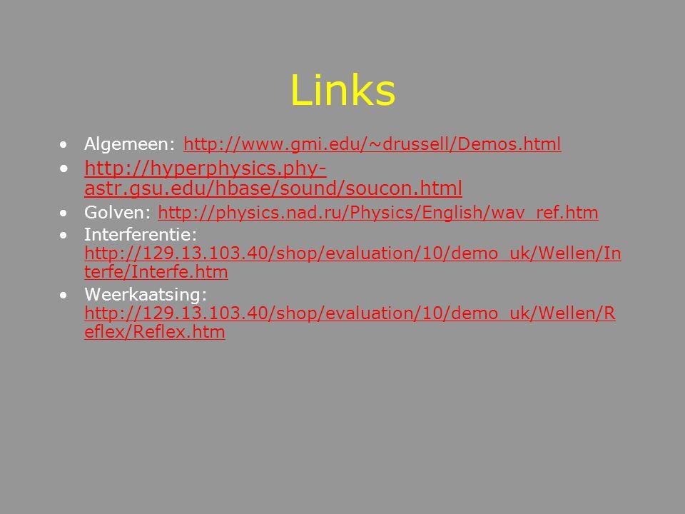 Longitudinale trillingen Trillingsrichting = Voortplantingsrichting Wavemotion
