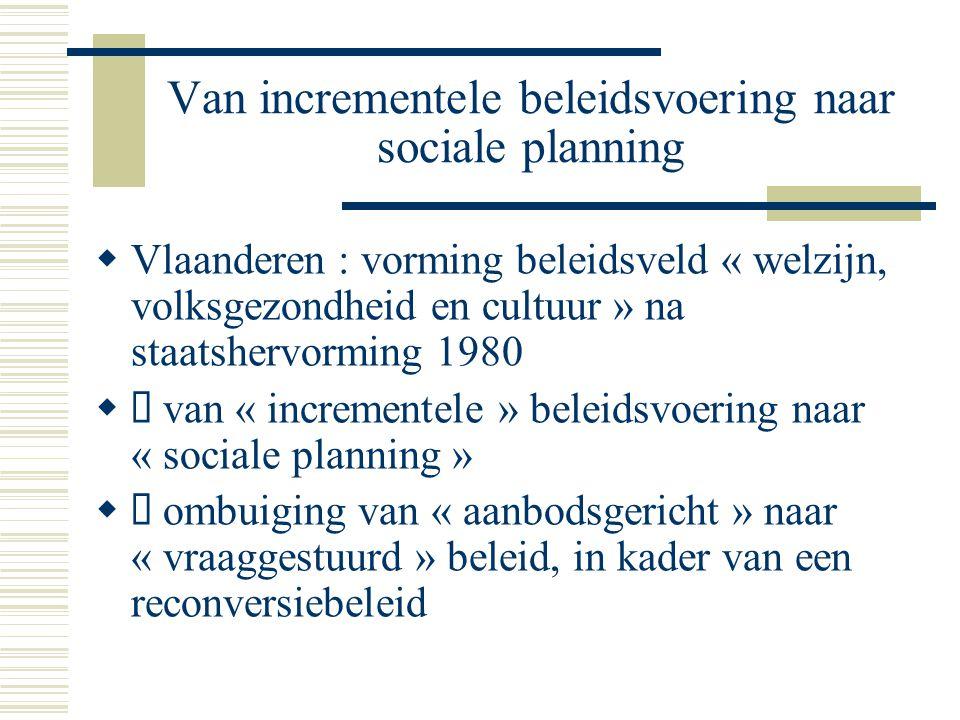 Van incrementele beleidsvoering naar sociale planning  Vlaanderen : vorming beleidsveld « welzijn, volksgezondheid en cultuur » na staatshervorming 1