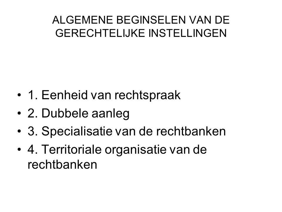 ALGEMENE BEGINSELEN VAN DE GERECHTELIJKE INSTELLINGEN 1.