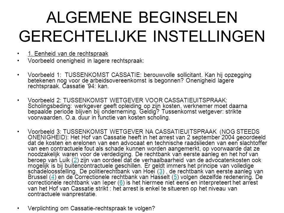 ALGEMENE BEGINSELEN GERECHTELIJKE INSTELLINGEN 1.