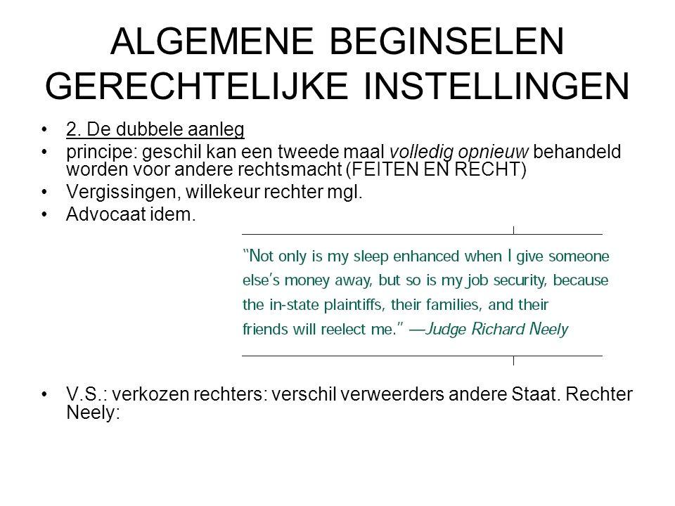 ALGEMENE BEGINSELEN GERECHTELIJKE INSTELLINGEN 2.