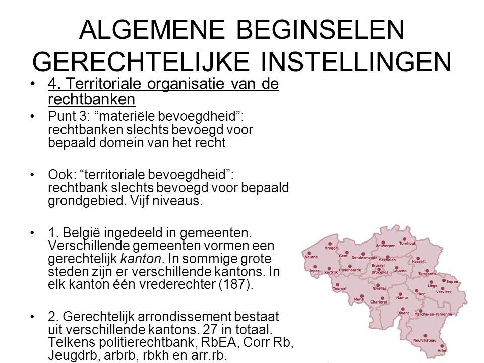 ALGEMENE BEGINSELEN GERECHTELIJKE INSTELLINGEN 4.