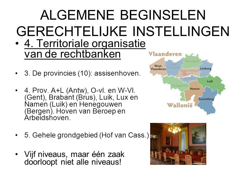 ALGEMENE BEGINSELEN GERECHTELIJKE INSTELLINGEN 4.Territoriale organisatie van de rechtbanken 3.