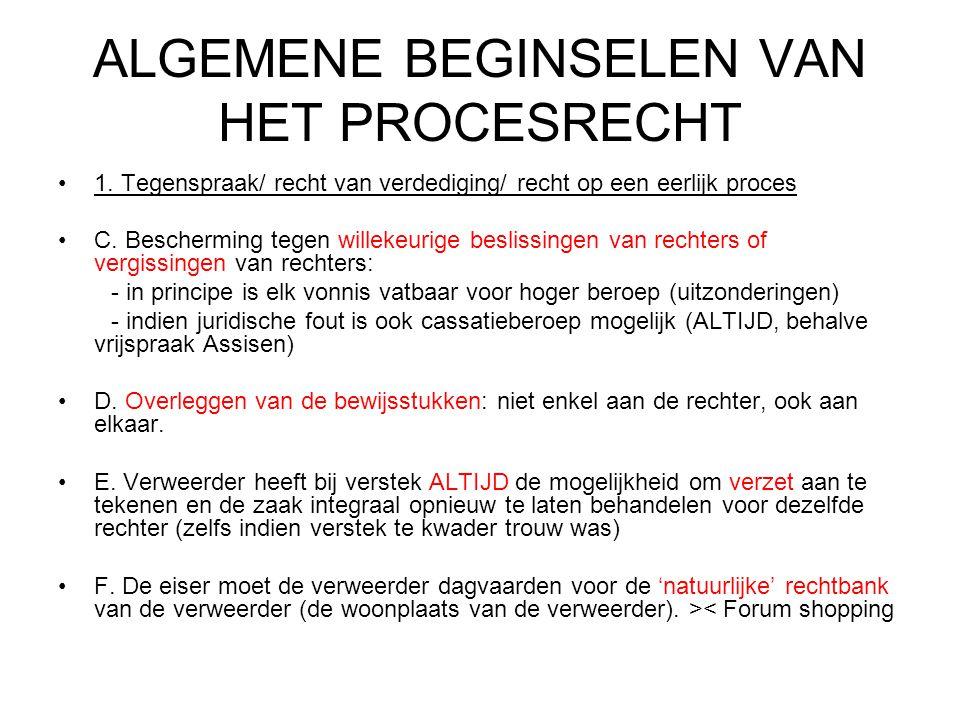 ALGEMENE BEGINSELEN VAN HET PROCESRECHT 1.