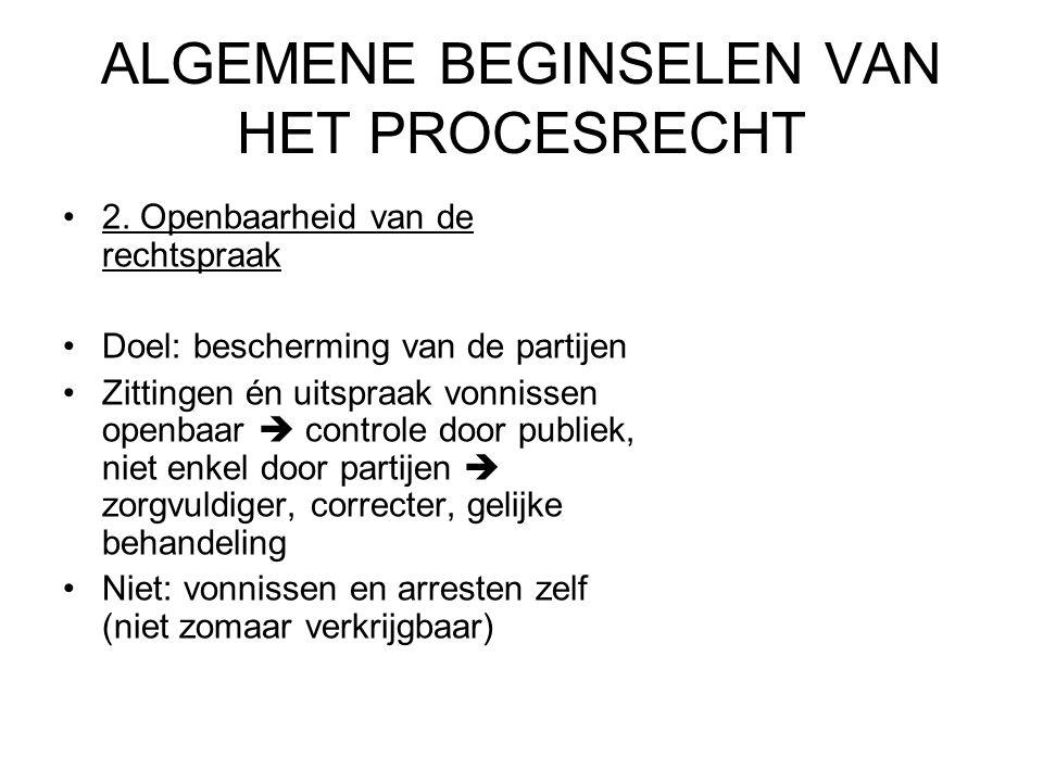 ALGEMENE BEGINSELEN VAN HET PROCESRECHT 2.