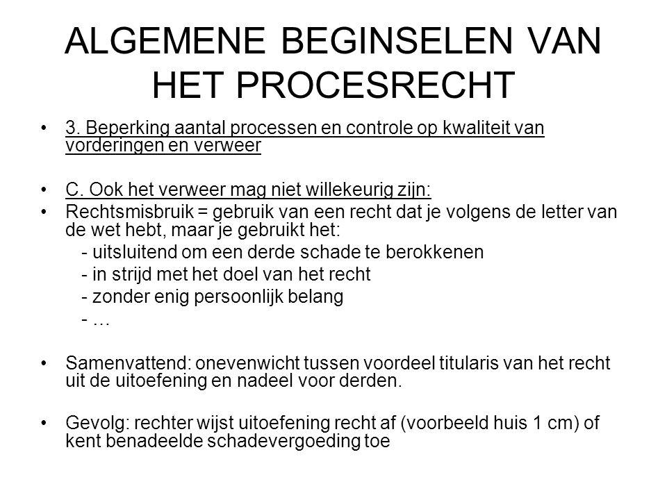 ALGEMENE BEGINSELEN VAN HET PROCESRECHT 3.