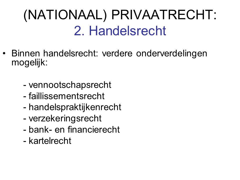 (NATIONAAL) PRIVAATRECHT: 2.