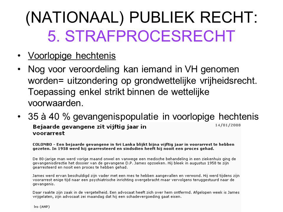 (NATIONAAL) PUBLIEK RECHT: 5.