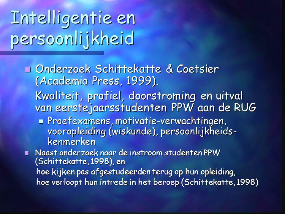 Hertesten intelligentie Significant http://users.skynet.be/vsig/ Als vb. van testresearch: Als vb. van testresearch: uitgangsvraag= wanneer is het zin