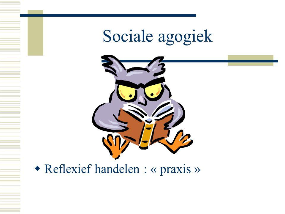 Sociale agogiek  Reflexief handelen : « praxis »