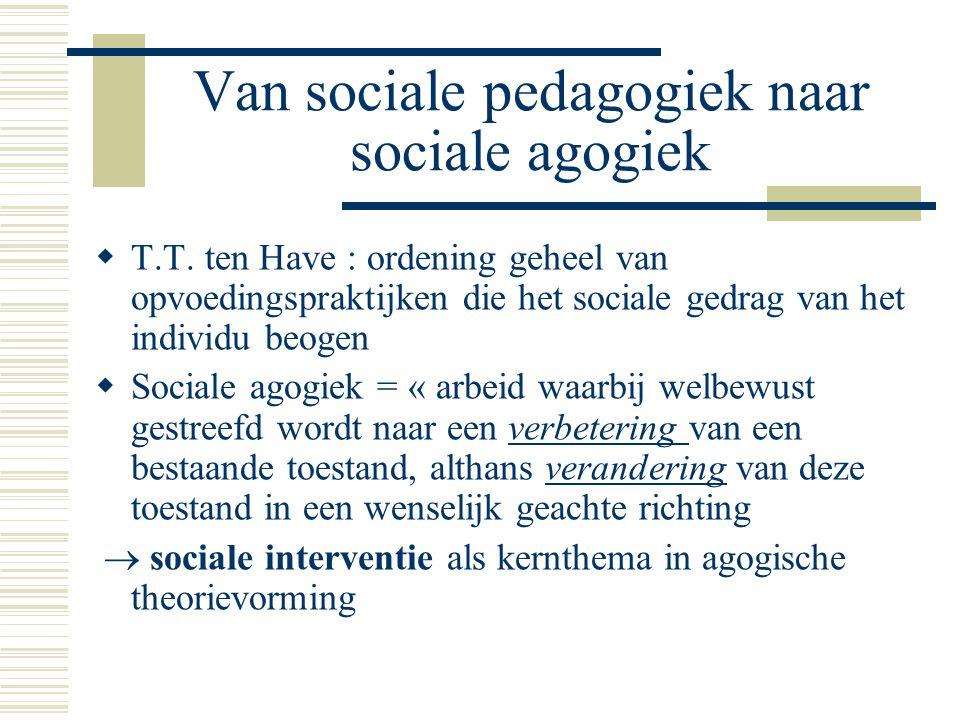Van sociale pedagogiek naar sociale agogiek  T.T.