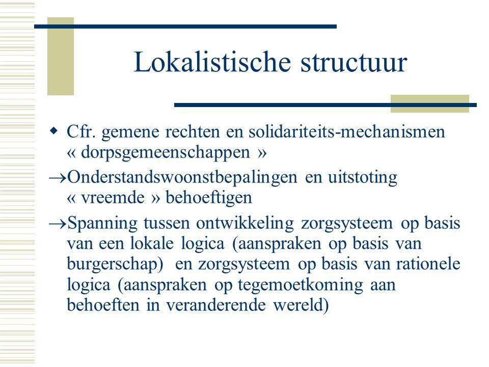 Lokalistische structuur  Cfr.