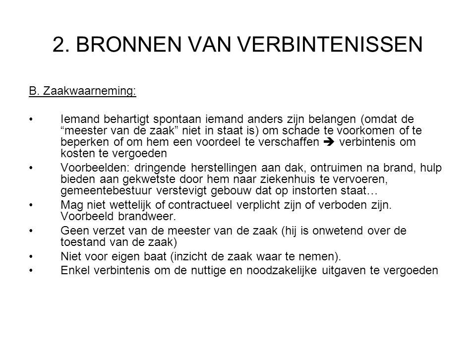 2.BRONNEN VAN VERBINTENISSEN B.