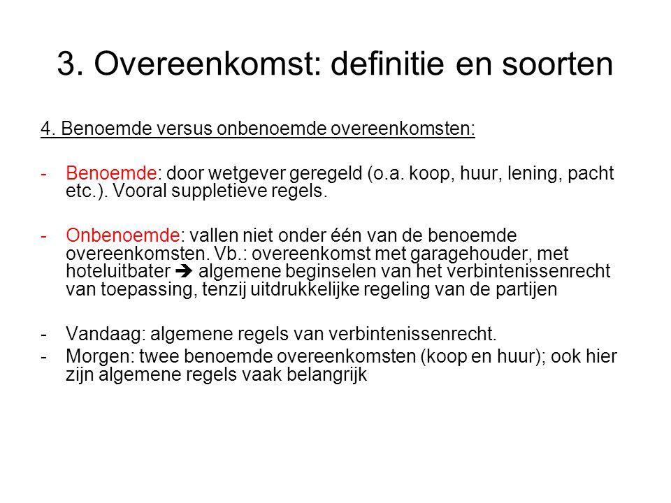 3.Overeenkomst: definitie en soorten 4.