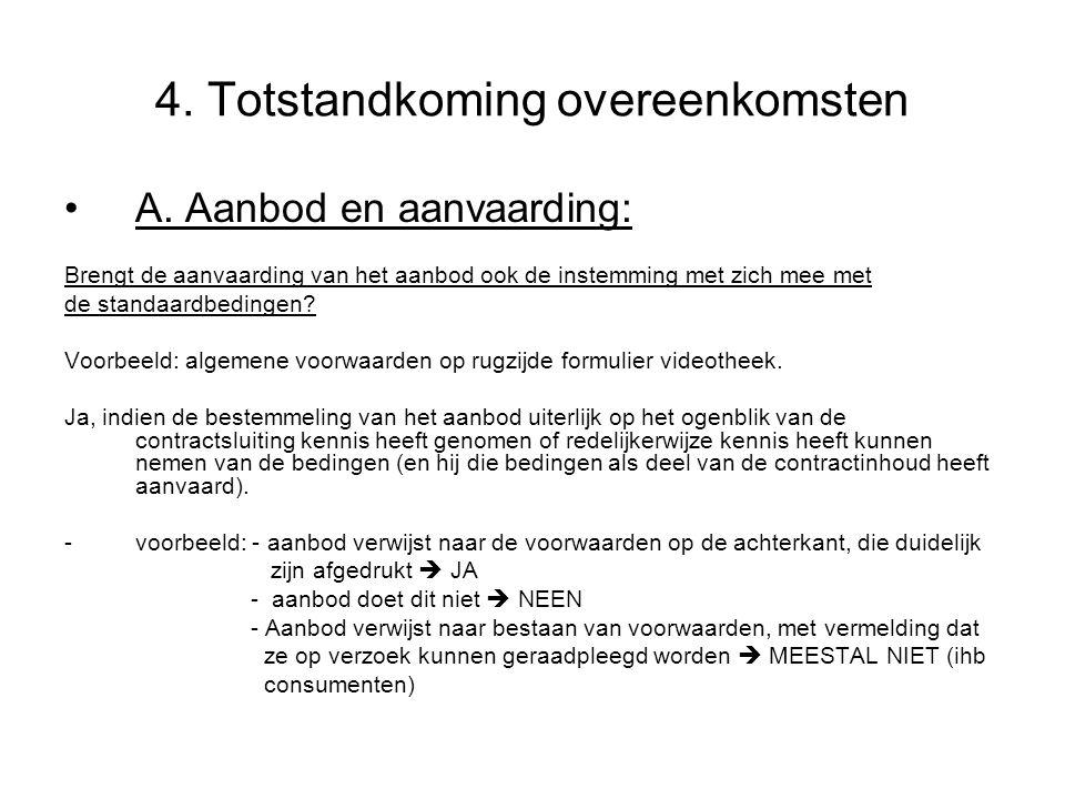 4.Totstandkoming overeenkomsten A.