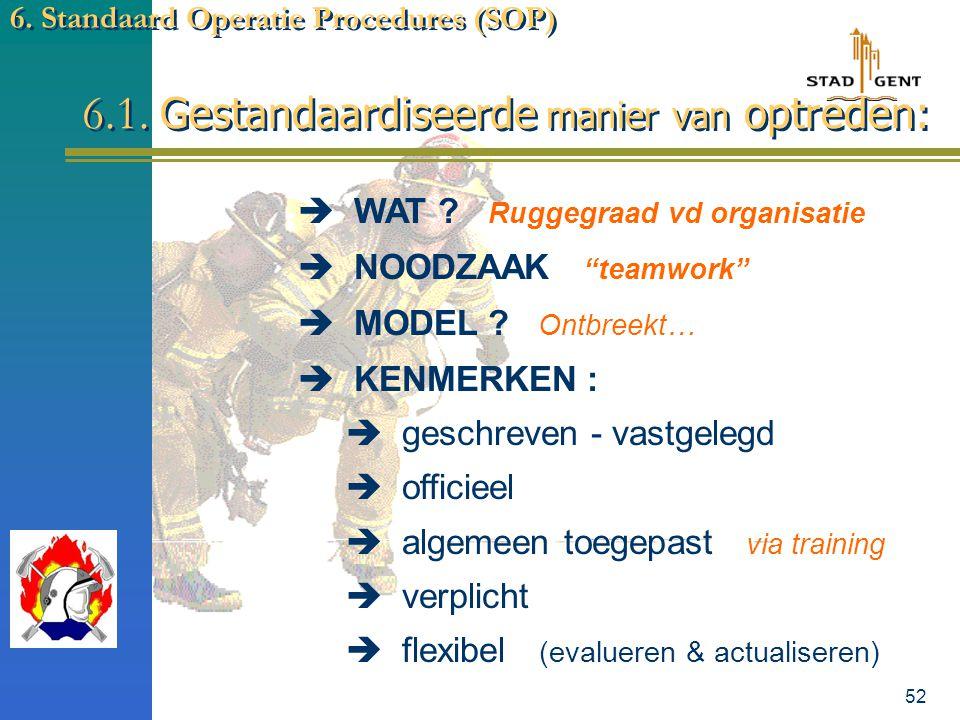 51 6. Standaard Operatie Procedures SOP's
