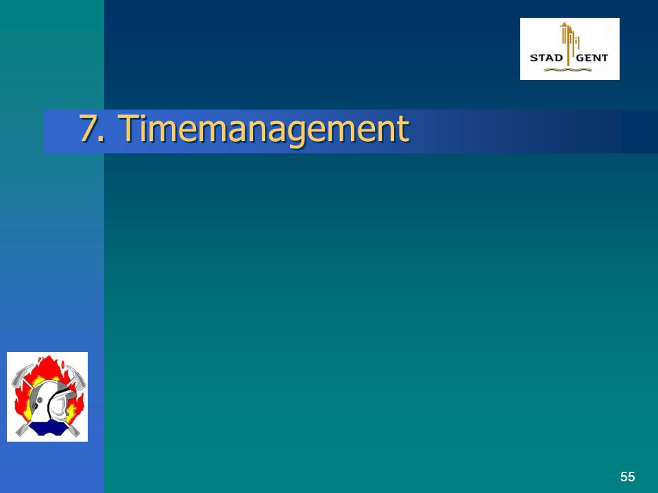 54 6. Standaard Operatie Procedures (SOP)  Ontwikkelingsproces SOP's : 6.1. Systematiek van de SOP's:  Systeemontwikkeling SOP's ontleding hulpopera
