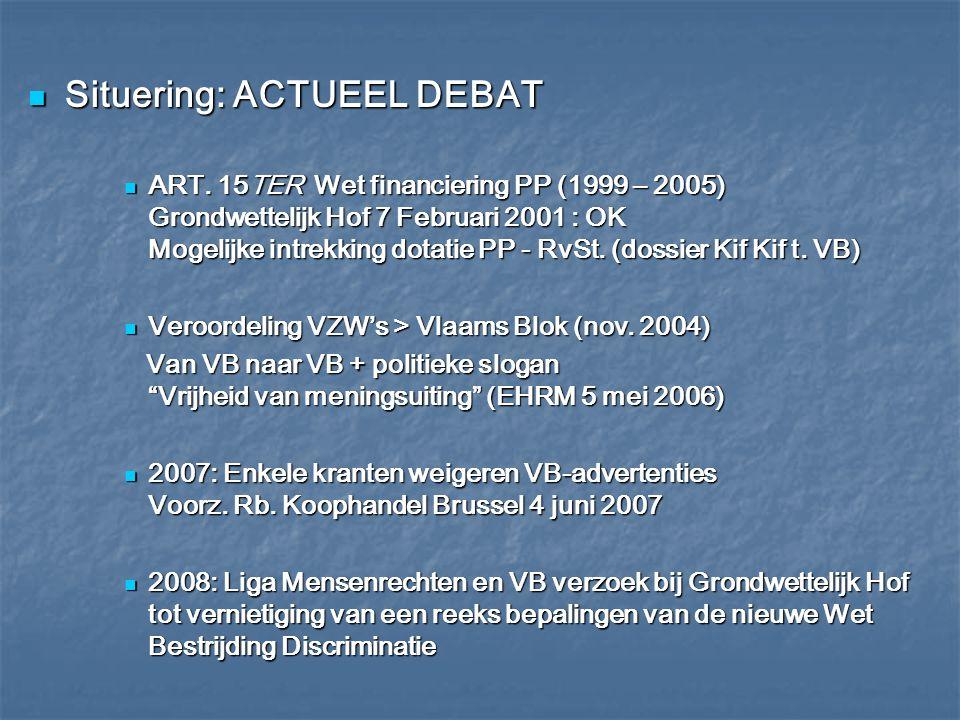Situering: ACTUEEL DEBAT Situering: ACTUEEL DEBAT F.