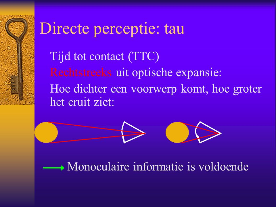 Directe perceptie: body-scaled information  3 exp.