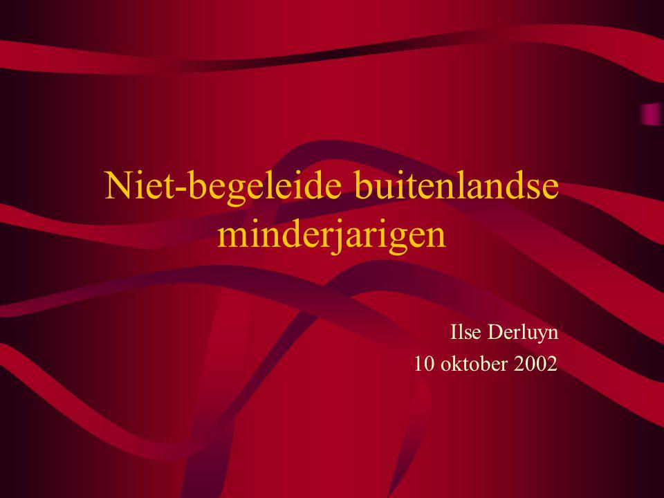 Niet-begeleide buitenlandse minderjarigen Ilse Derluyn 10 oktober 2002