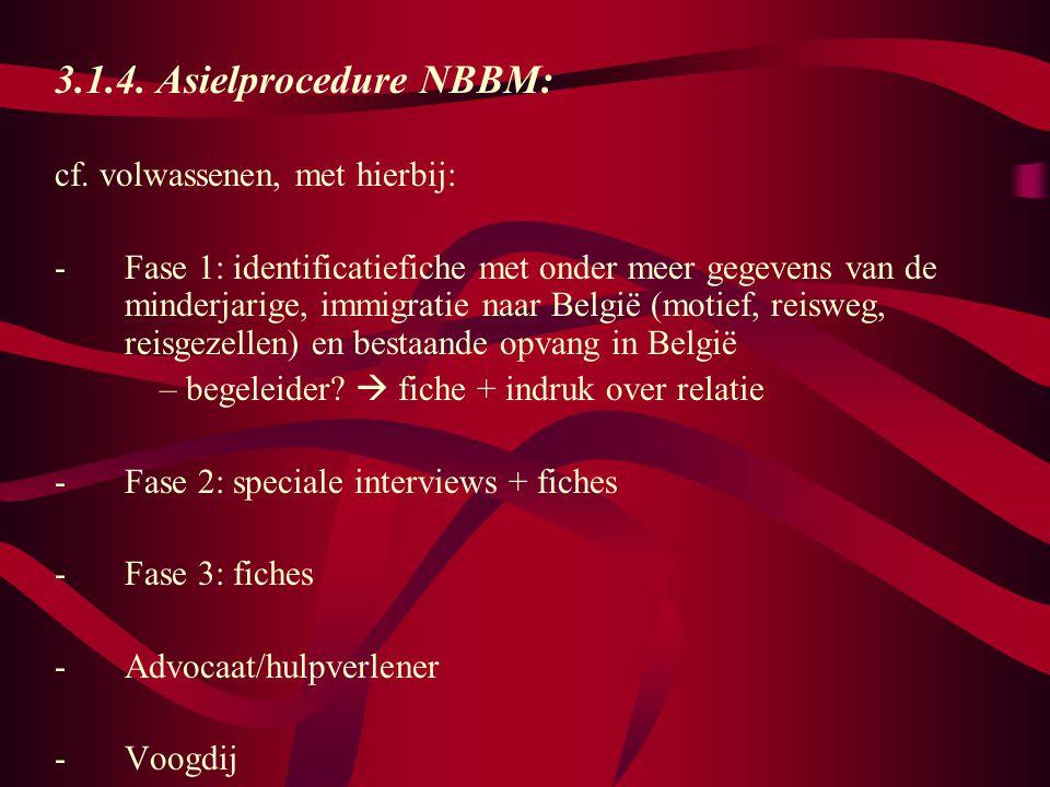 3.1.4.Asielprocedure NBBM: cf.