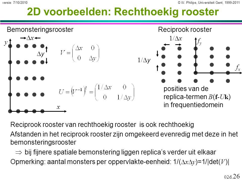 © W. Philips, Universiteit Gent, 1999-2011versie: 7/10/2010 02d.