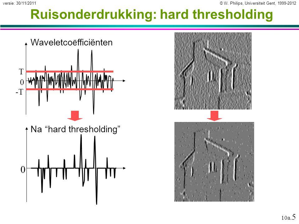 © W.Philips, Universiteit Gent, 1999-2012versie: 30/11/2011 10a.