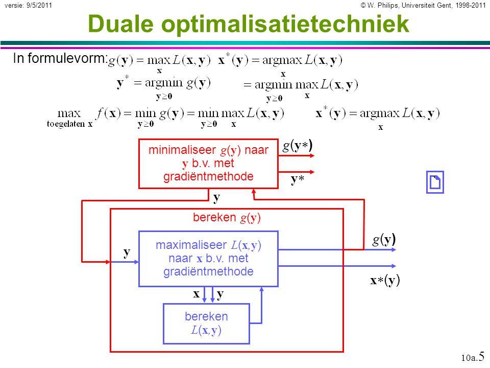 © W.Philips, Universiteit Gent, 1998-2011versie: 9/5/2011 10a.
