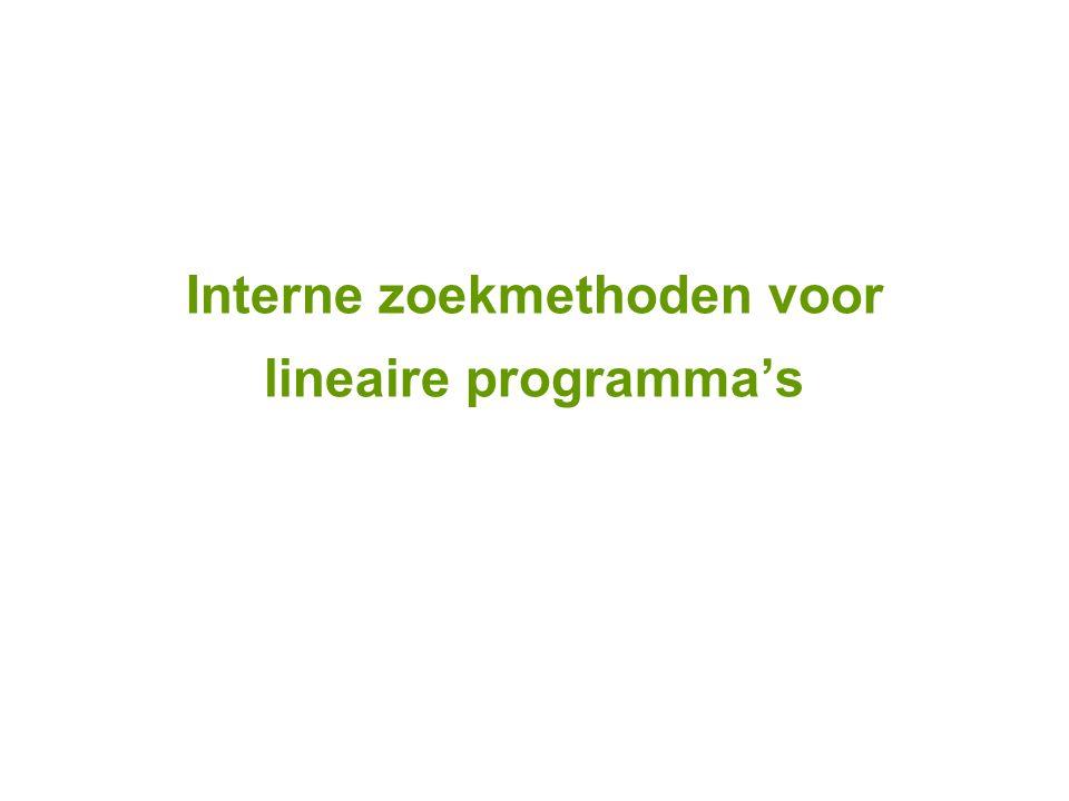 Interne zoekmethoden voor lineaire programma's