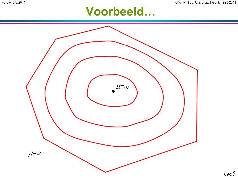 © W. Philips, Universiteit Gent, 1998-2011versie: 2/5/2011 09c. 6 …Voorbeeld… =1=1 == =1=1
