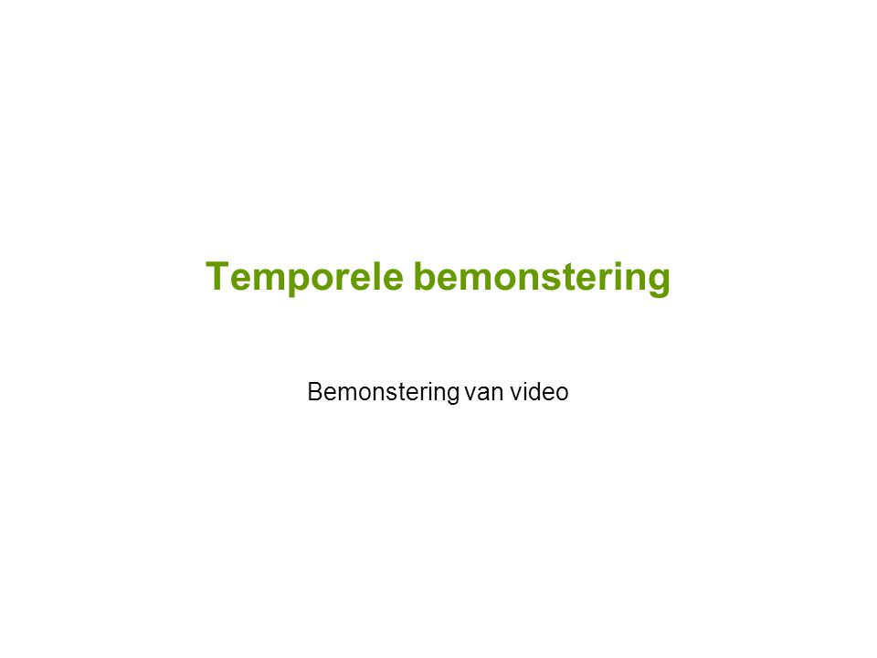 Bemonstering van video