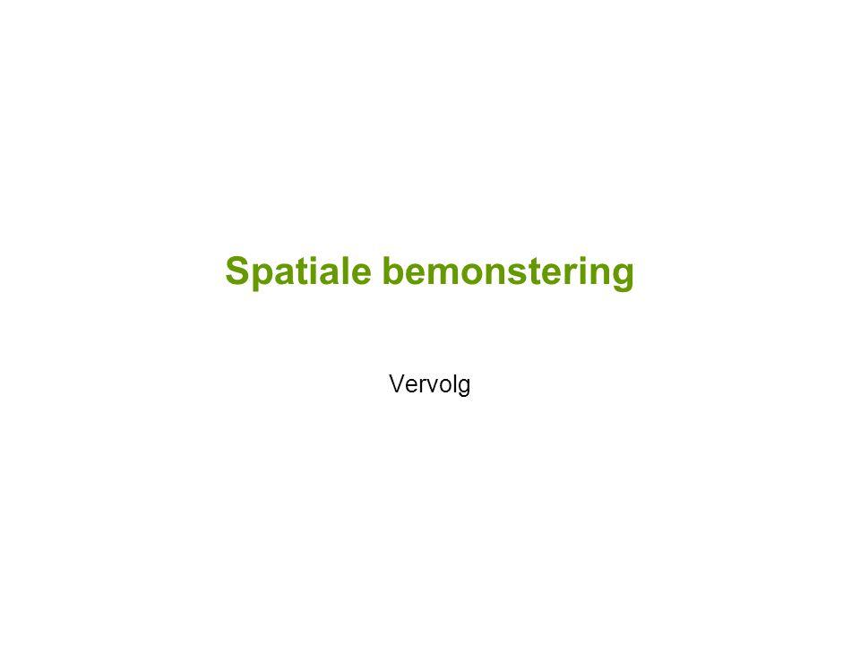 Spatiale en temporele aspecten beeldopname en weergave