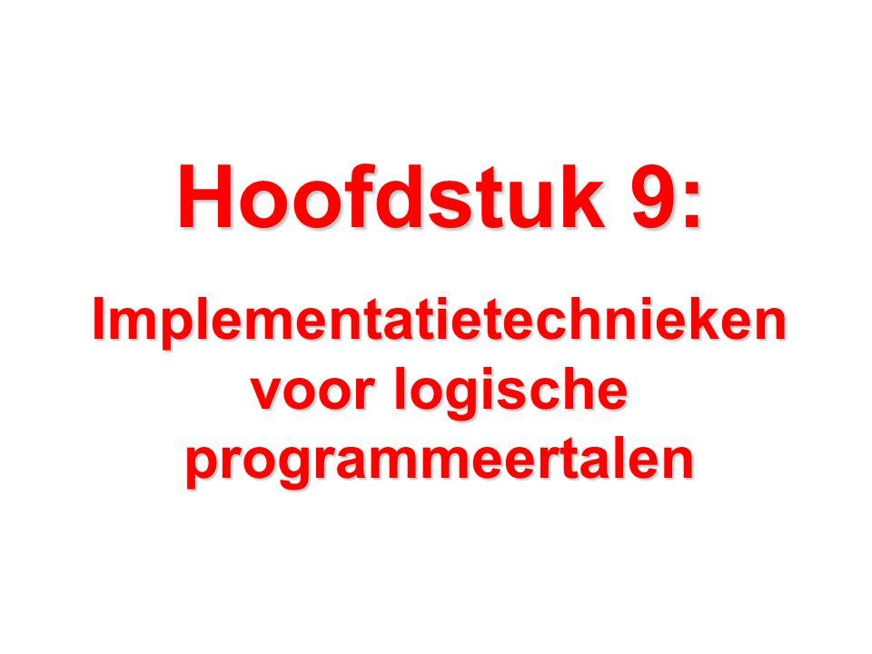Hoofdstuk 9: Implementatietechnieken voor logische programmeertalen