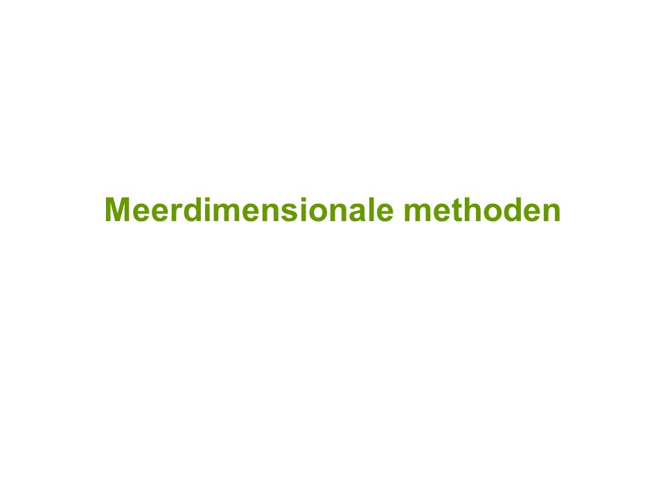 Meerdimensionale methoden