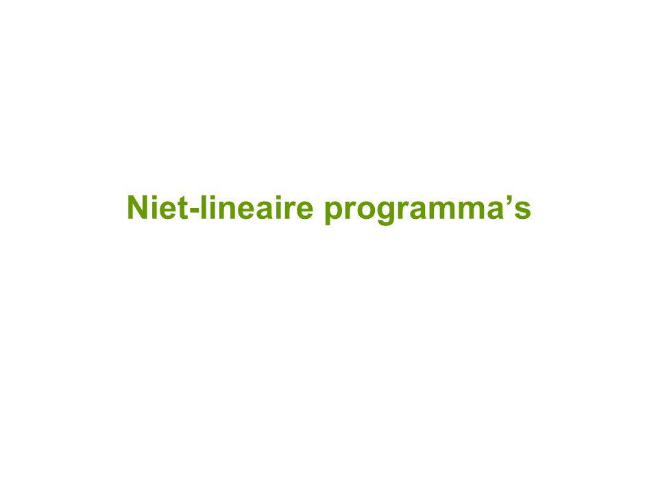 Niet-lineaire programma's