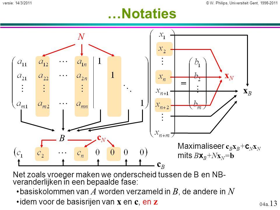 © W. Philips, Universiteit Gent, 1998-2011versie: 14/3/2011 04a.